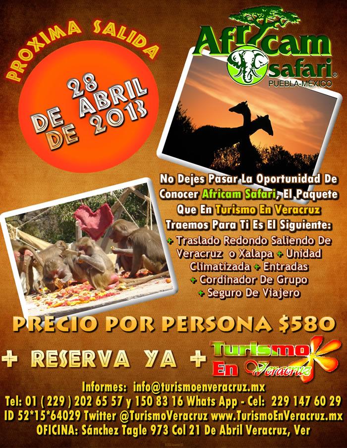 Excursión a Africam Safari Saliendo De Veracruz y Xalapa 28 de Abril 2013