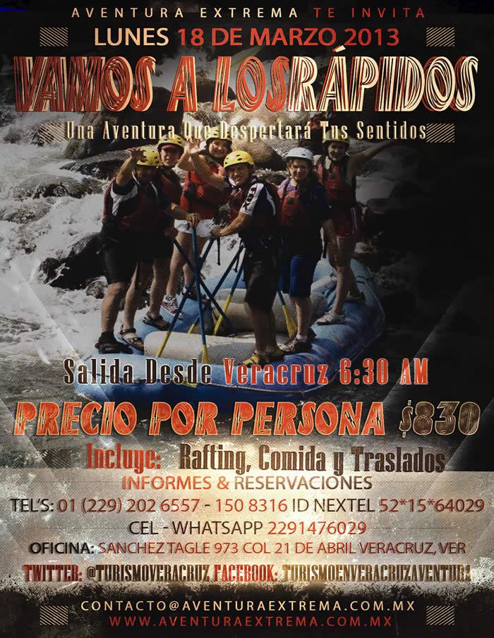 Los Rápidos De Jalcomulco Te Esperan Este 18 De Marzo 2013