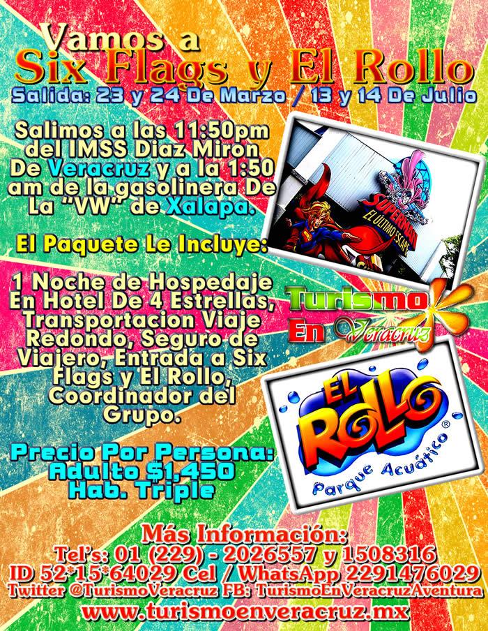 Vamos a Six Flags y El Rollo Este 24 De Marzo 2013