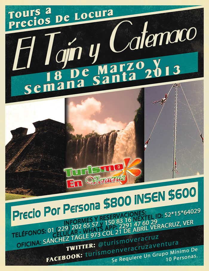 Tours a Catemaco y El Tajín En Este Puente De Marzo y Semana Santa 2013 a Precio De Locura